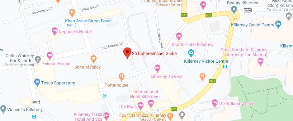 Map OS Hair Killarney